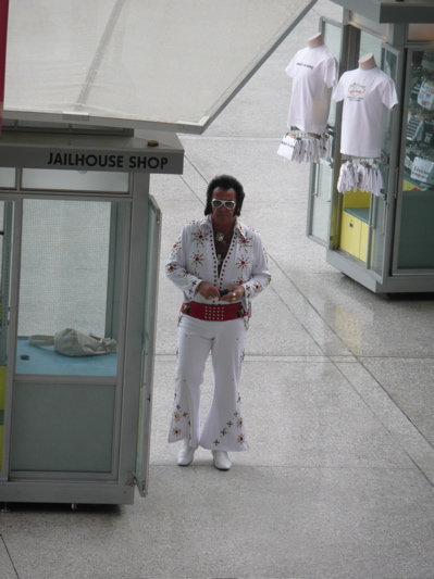 elvis at the cop shop